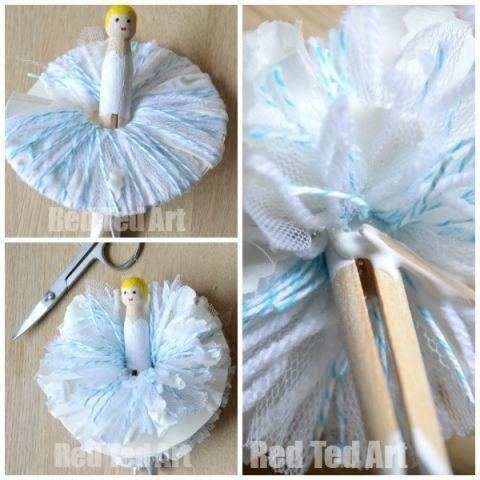 How to Make a Pom Pom Clothespin Fairy