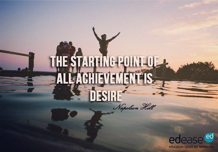 """The starting point of all achievement is desire"" - Napoleon Hill #tuesdaymotivation #quote #quoteoftheday #inspiration #achievement #desire"