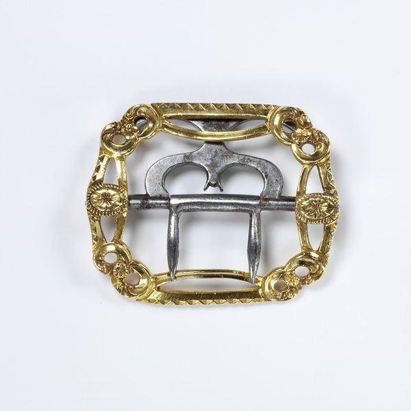 Knee buckle, gold, London, England, ca. 1780.  Rich, John, V Knee buckles were one of the few pieces of jewelry worn by men.