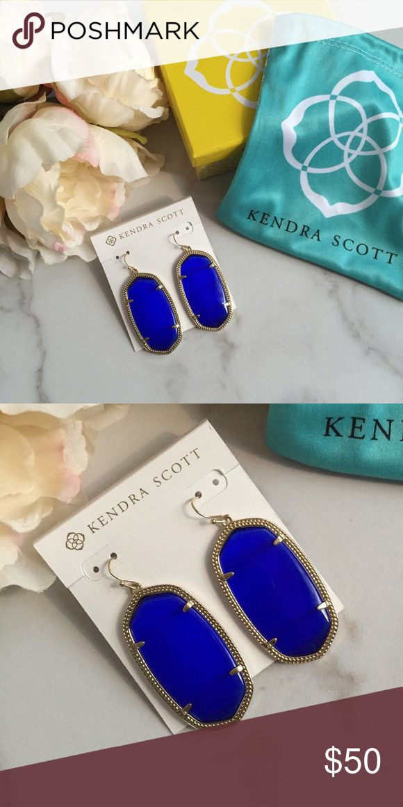 Kendra Scott Danielle earrings Gorgeous cobalt blue Kendra Scott Danielle earrings are more beautiful in person! Will come with dust bag and box. Kendra Scott Jewelry Earrings