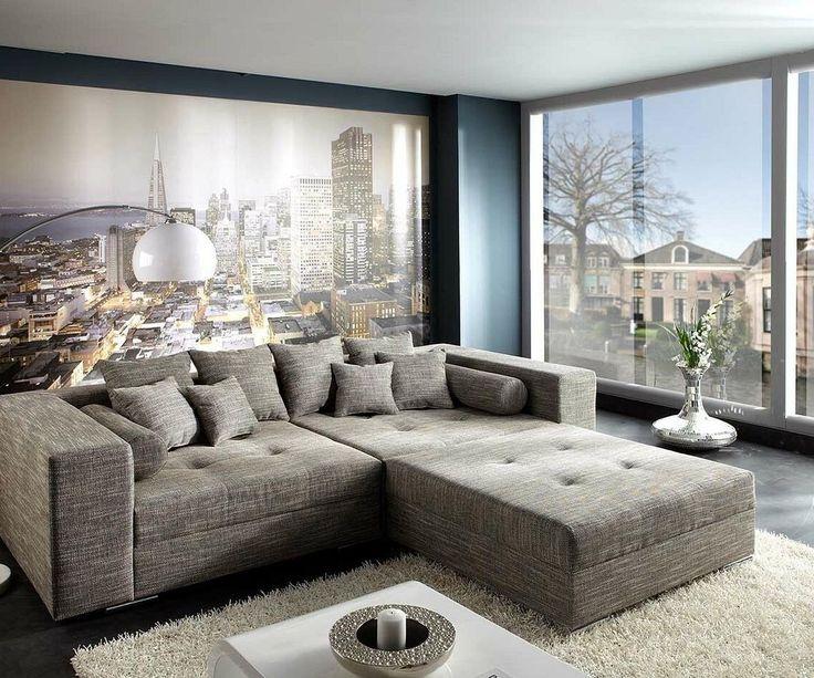 Beautiful big sofa, relaxing and elegant