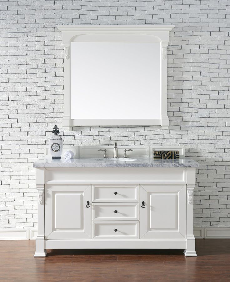 Website With Photo Gallery Brookfield Single Sink Bathroom Vanity Cabinet Cottage White Finish Carrara White Marble