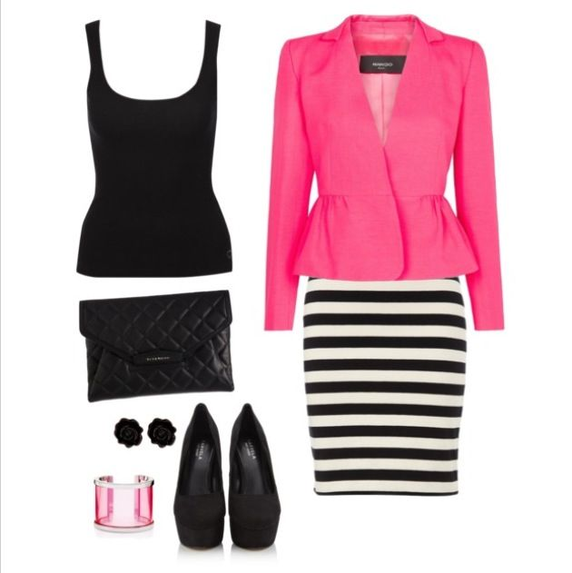 black and white and pink!