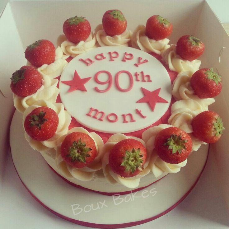 Happy Birthday 'Victoria sponge' cake