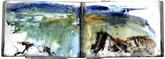Waves & Rocks, Mixed media seascape by Adrian Homersham