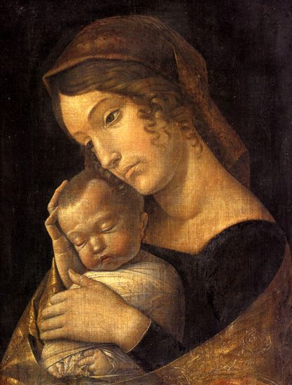 """Madonna with sleeping child"", by Andrea Mantegna"