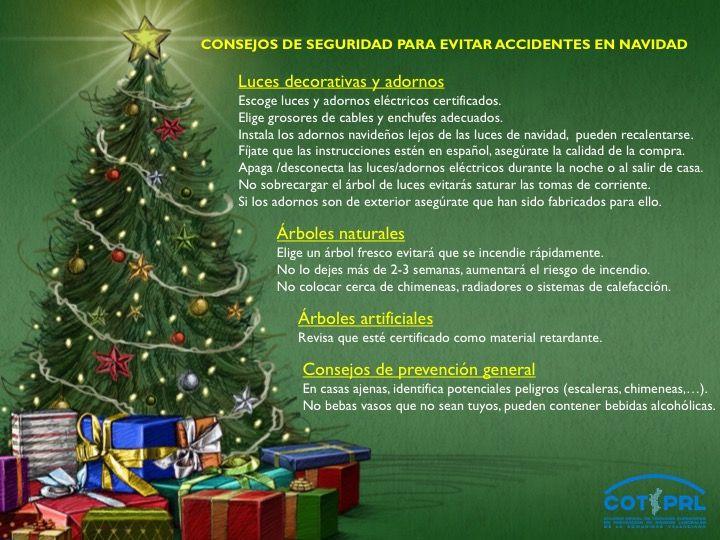 Consejos De Seguridad Para Evitar Accidentes En Navidad Consejos De Seguridad Navidad Seguridad