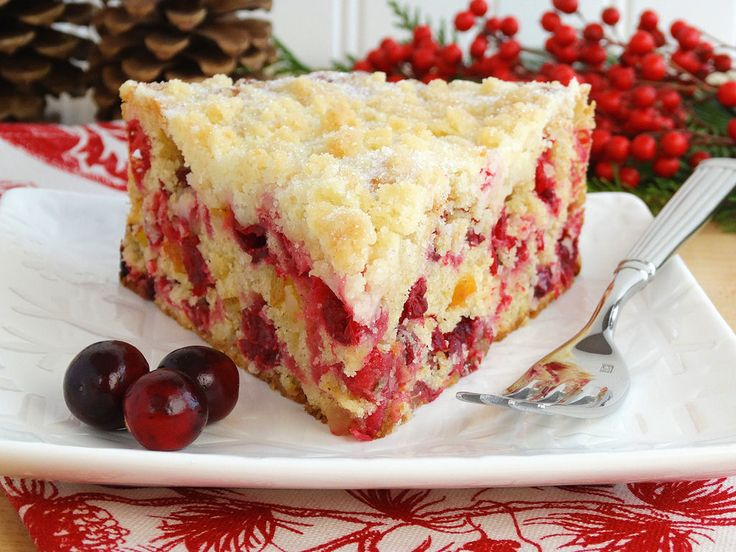 Christmas Cranberry Buckle – Holiday Cake. Christie Christmas 2015 ...