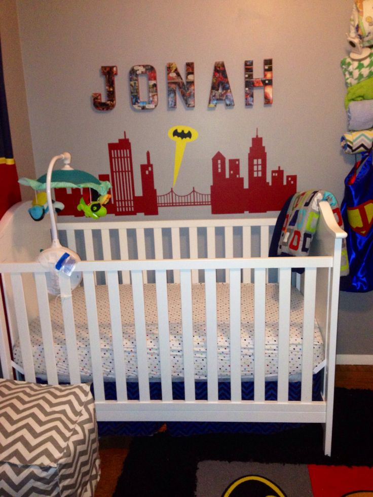 Super Hero Nursery Decor For Jonah Yes There Are Capes