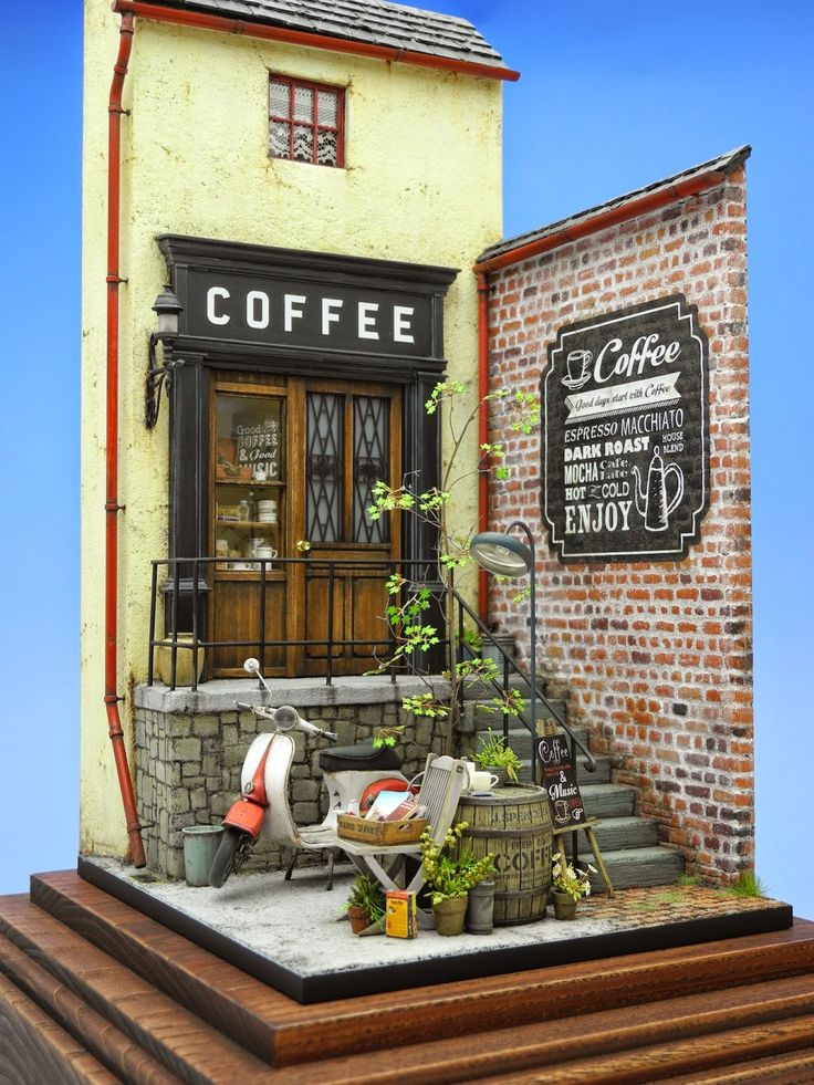 Good project for learning brickwork, stucco, door, window, railings, lighting/wiring, stairs, shingles, stonework