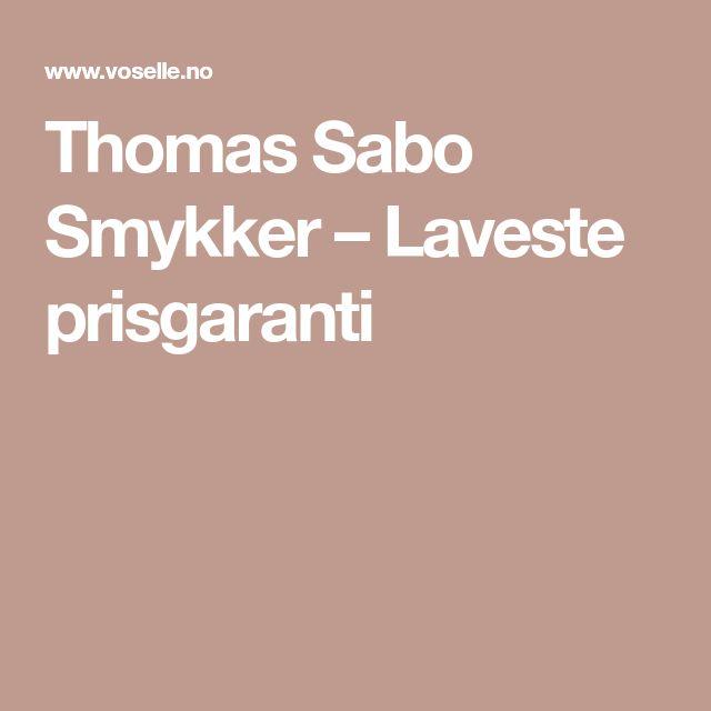 Thomas Sabo Smykker – Laveste prisgaranti