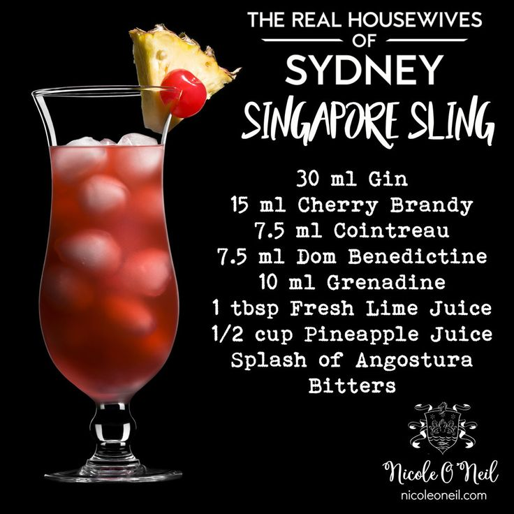 Easy Singapore Sling Cocktail Recipe - The Real Housewives of Sydney