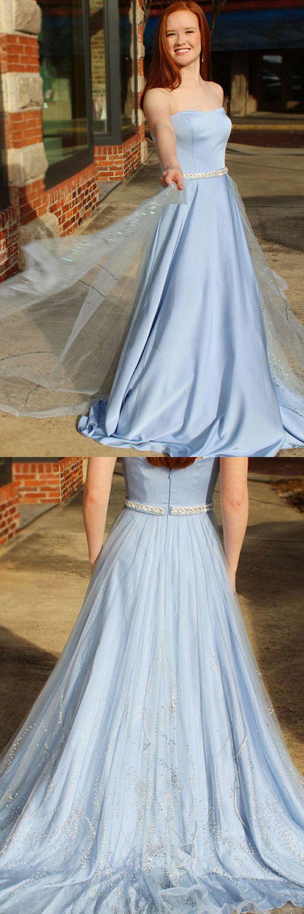 Newest Long Sky Blue Strapless Elegant Prom Dresses Cute Dresses Us 185 00 Stp8p9rjp1 Stylishpromsdress Co Uk Cute Dresses Prom Dresses Sleeveless Prom Dresses For Teens [ 1800 x 600 Pixel ]