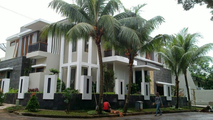 klinik arsitektur, Ragam Gaya (Style): Art Deco, Classic, Country, Contemporary, Ethnic, Mediterran: Rumah tropis minimalis kalibata Desain aditya wija...