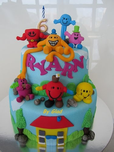 Mr Men and Little Miss cakes party kids boys girls birthday cupcake popcake cookies