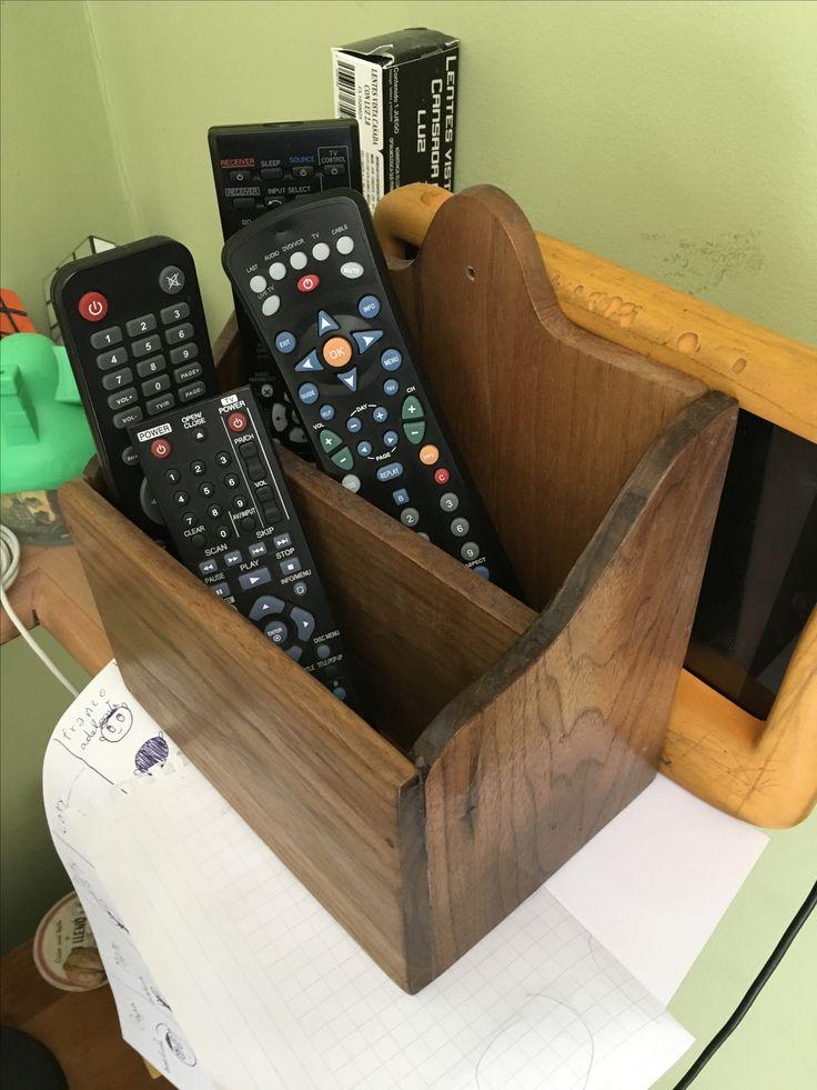 Porta controles en madera de nogal negro americano