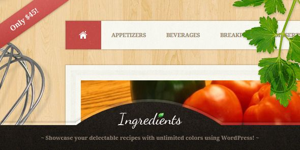 Ingredients - A Fresh Recipe WordPress Theme