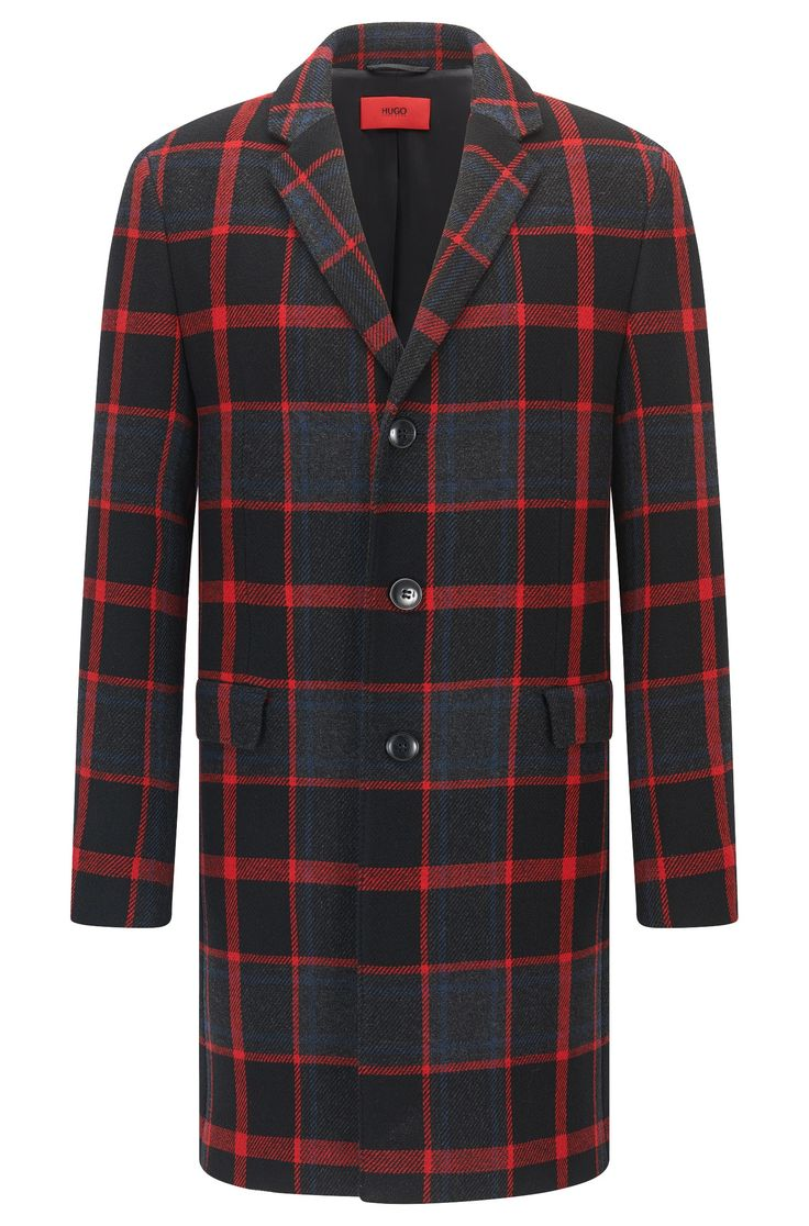 'Miigor' | Plaid Coat Patterned from HUGO for Men for $645.00 in the official HUGO BOSS Online Store free shipping