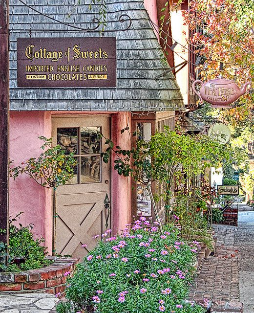 You have GOT to go to Carmel some time and see these little shopsPink Shops, Stores Front, Favorite Places, Pink House, Carmel California, Teas, Candies Shops, Cottages, Sweets Shops