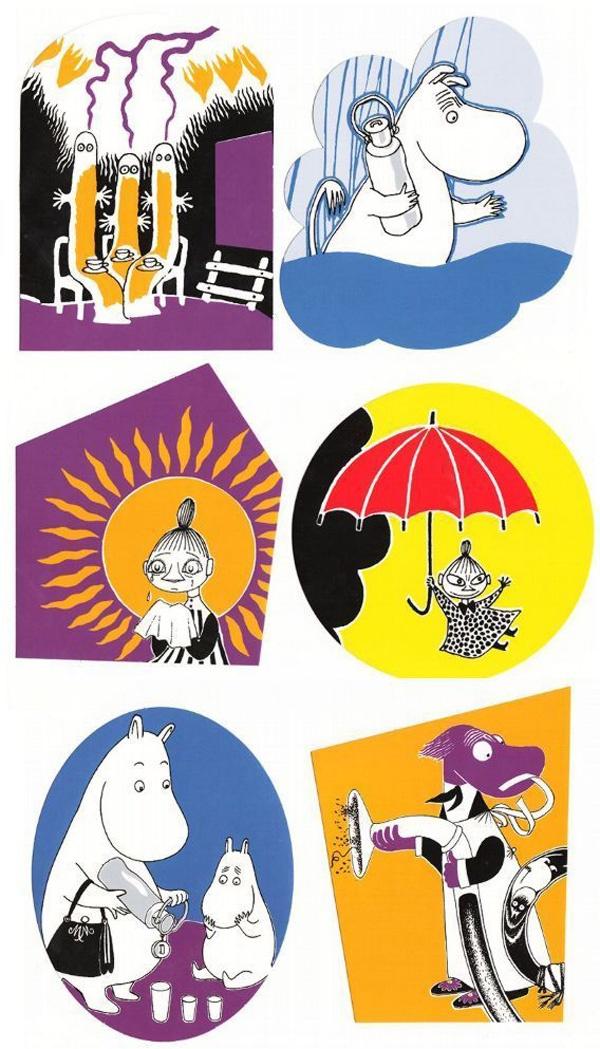 Tove Jansson - Moomin postcards via Kiosk Mamymuminka (Moomin PL)