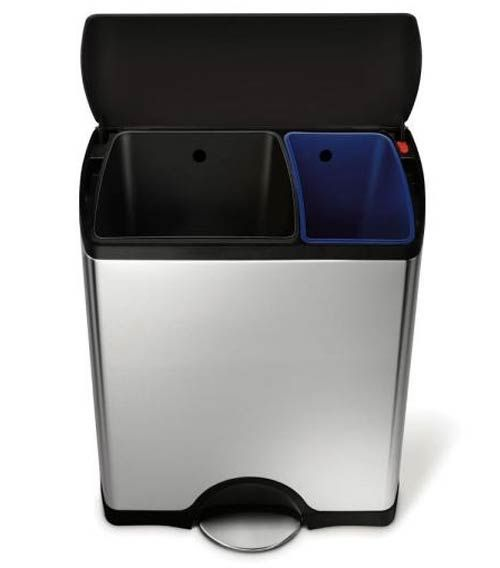 12 best dual trash can double recycling bins with 2 compartments images on pinterest. Black Bedroom Furniture Sets. Home Design Ideas