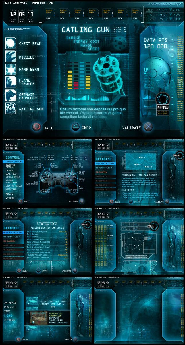 Behaviour Interactive Game UI Work user interface gui | NOT OUR ART - Please click artwork for source | WRITING INSPIRATION for Dungeons and Dragons DND Pathfinder PFRPG Warhammer 40k Star Wars Shadowrun Call of Cthulhu and other d20 roleplaying fantasy science fiction scifi horror location equipment monster character game design | Create your own RPG Books w/ www.rpgbard.com