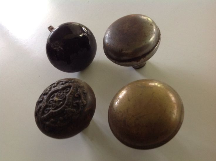 Antique rusty old collection salvaged iron black porcelain brass metal door knob parts pieces lot by Hannahandhersisters on Etsy