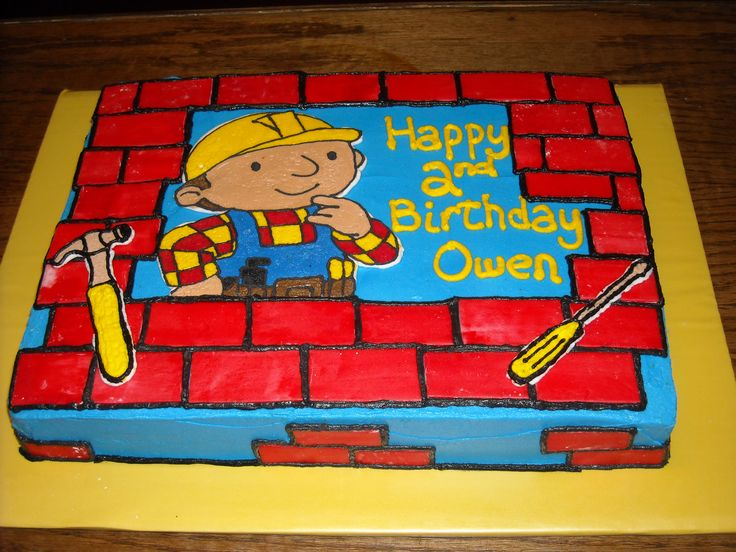 bob builder cake ideas | Bob the Builder