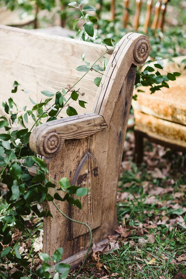 Outdoor church pew | Soul Child Photography and  Orchestrated Stylized Shoots | see more on: http://burnettsboards.com/2015/02/interlocked-stylized-shoot/