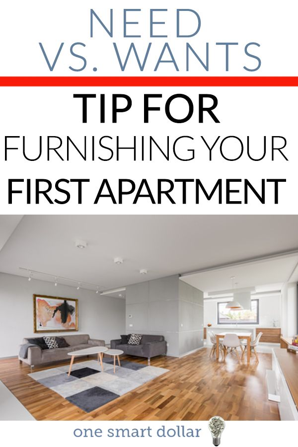 Are you moving into your first apartment? Here are some tips to furnish it on a budget. #NewHomeIdeas #NewHome #Budget #Frugal #SavingMoney