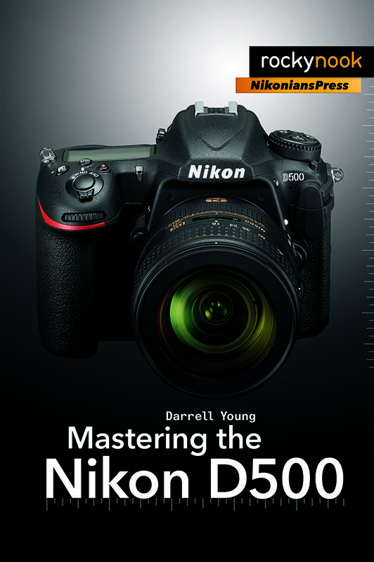Mastering the Nikon D500 by Darrell Young, available at Amazon (.com) and RockyNook (.com).