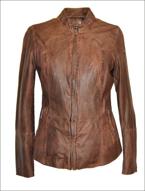 Γυναικείο δερμάτινο μπουφάν Μοντέλο: GIG-85 Δέρμα: nappa vintage washed Τιμή: 275€