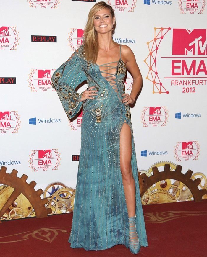 Heidi Klum on the red carpet of the MTV Europe Music Awards 2012 held at Festhalle Frankfurt in Frankfurt am Main, Germany on November 11, 2012