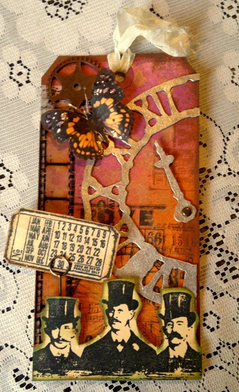 What day is it - Tim Holtz Inspired Tag - Scrapbook.com