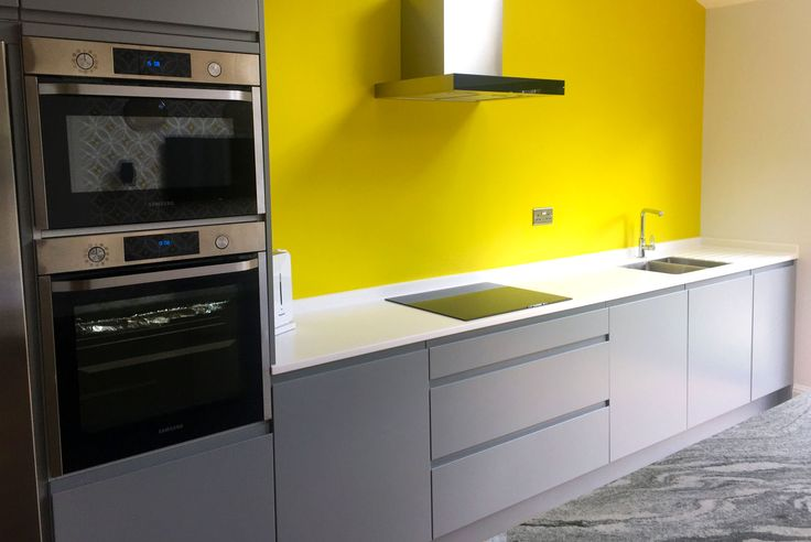 An Innova Luca Dove Grey Handleless Kitchen