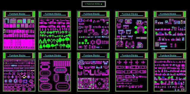 Fabulous Une grande bibliothèque de blocs Autocad dwg | Grande bibliothèque  CW97