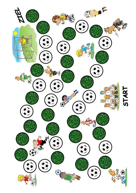 logopädisches Therapiematerial zu Kindersprache: Ein Spielfeld zur individuellen Verwendung im Thema Fußball. Schreibt in den Rückmeldungen, wie ihr dieses Spielfeld einsetzt und wie es bei euren Therapie