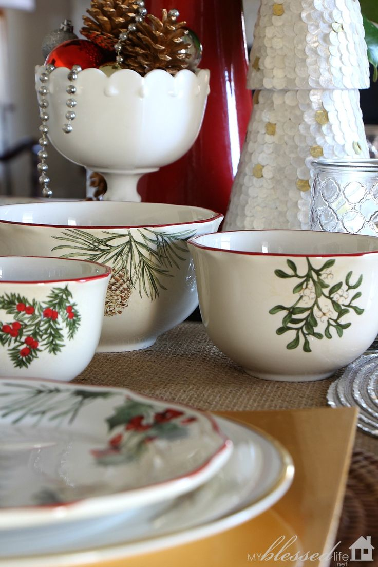 Better homes and gardens christmas decorating ideas - The Heritage Dinnerware Collection From Better Homes And Gardens Makes A Wonderful Simple Holiday Gift