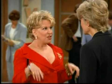 "Candace Bergan in ""Murphy Brown""  Bette Midler in the final episode."
