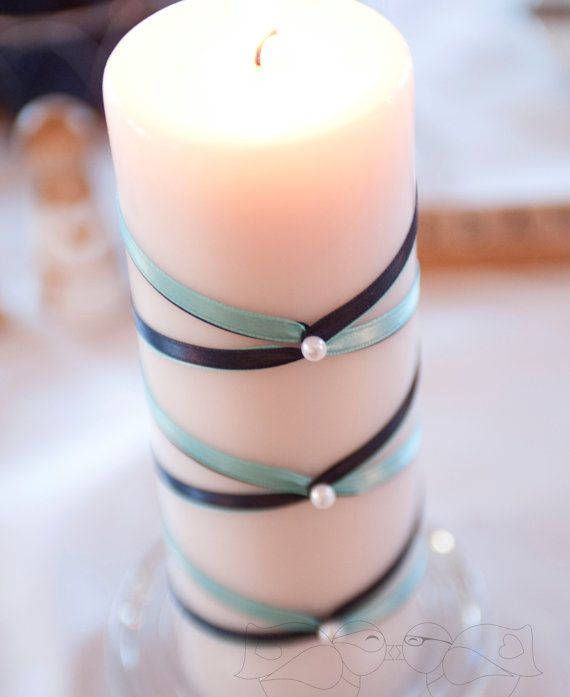 French Braid Ribbon Unity Candle  Custom Colors by TheLoveNerds, $30.00