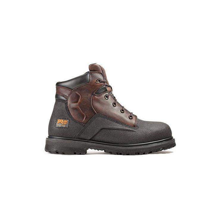 Timberland PRO Men's 6'' PowerWelt Waterproof Steel Toe Work Boots, Brown