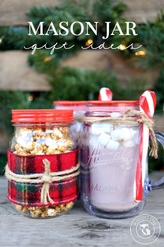 Easy Mason Jar Gifts - great ideas! (Where on earth do u get candy cane spoons?! Wish they did them in the uk!!)