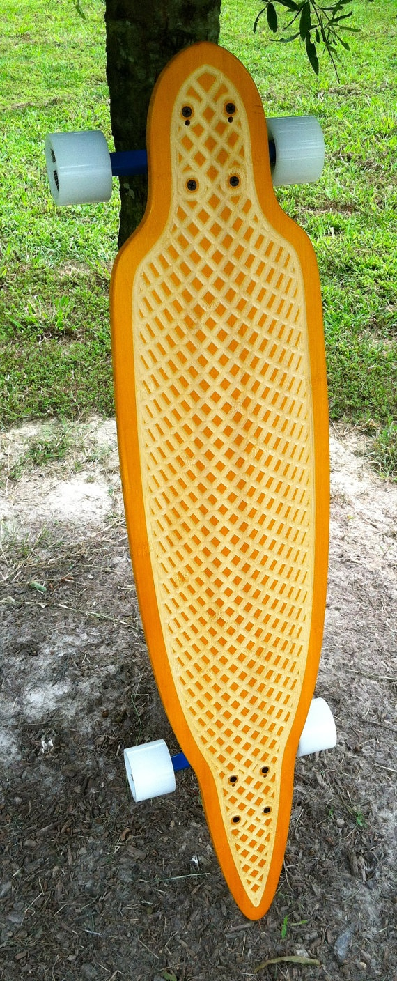 42 Bamboo Longboard Cruiser / Carver by Romine by RomineWoodworks, $225.00