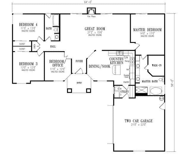 Beautiful Affordable 4 Bedroom House Plans #2: Open House Plans, And That Economical 4 Bedroom House Plans Sure To An    For The Home   Pinterest   Open House Plans