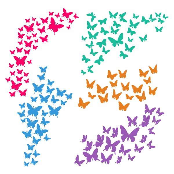 Fluttering Butterflies Cuttable Design Cut File. Vector, Clipart, Digital Scrapbooking Download, Available in JPEG, PDF, EPS, DXF and SVG. Works with Cricut, Design Space, Cuts A Lot, Make the Cut!, Inkscape, CorelDraw, Adobe Illustrator, Silhouette Cameo, Brother ScanNCut and other software.