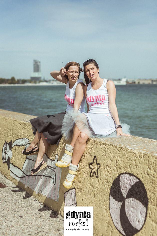 Riviera! - spódnica dresowa z tiulem MINI - gdyniarocks - Spódnice tiulowe i halki