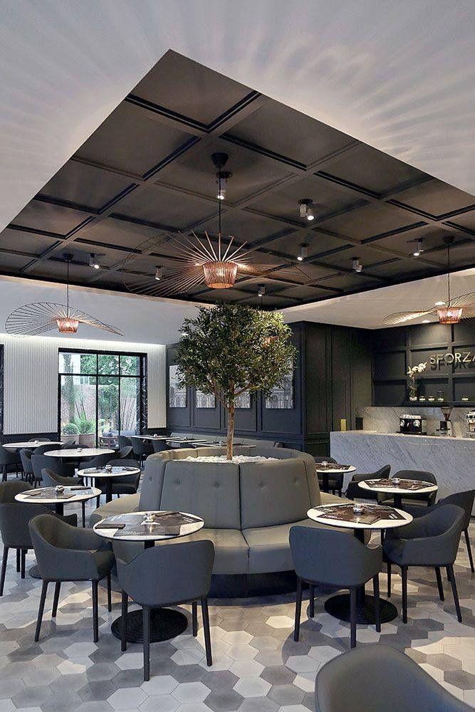 Charcoal Luxury Canteen Area