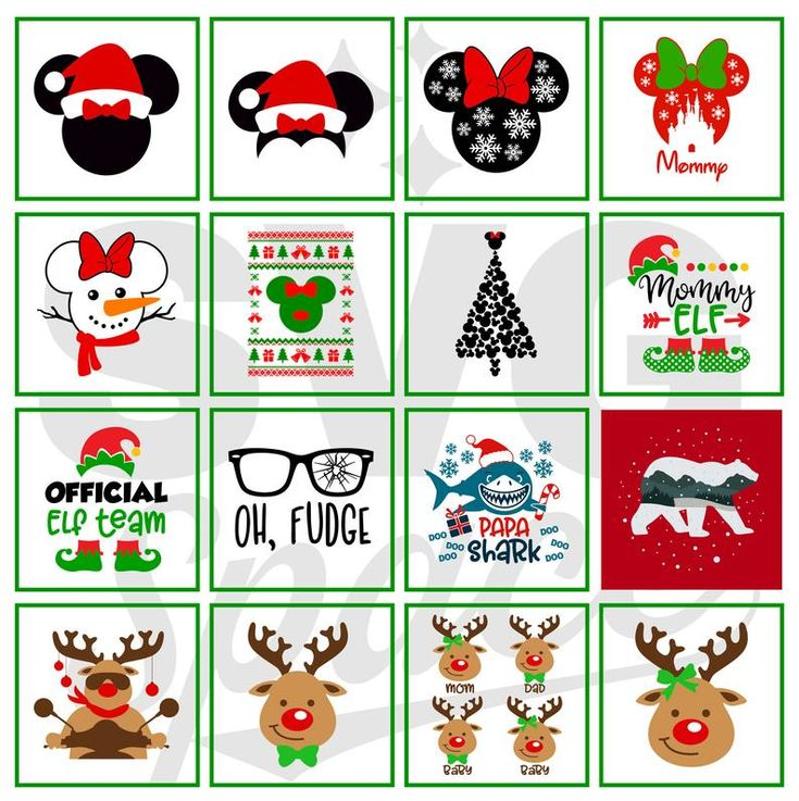 Christmas Disney Svg, Christmas Bundle Svg, Mickey, Minnie