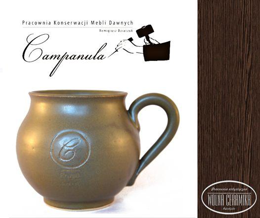 Mug with company logo.