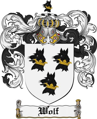 wolf coat of arms wolf family crest instant download for